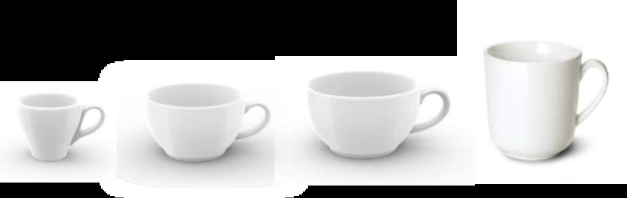 Portionen Tassen