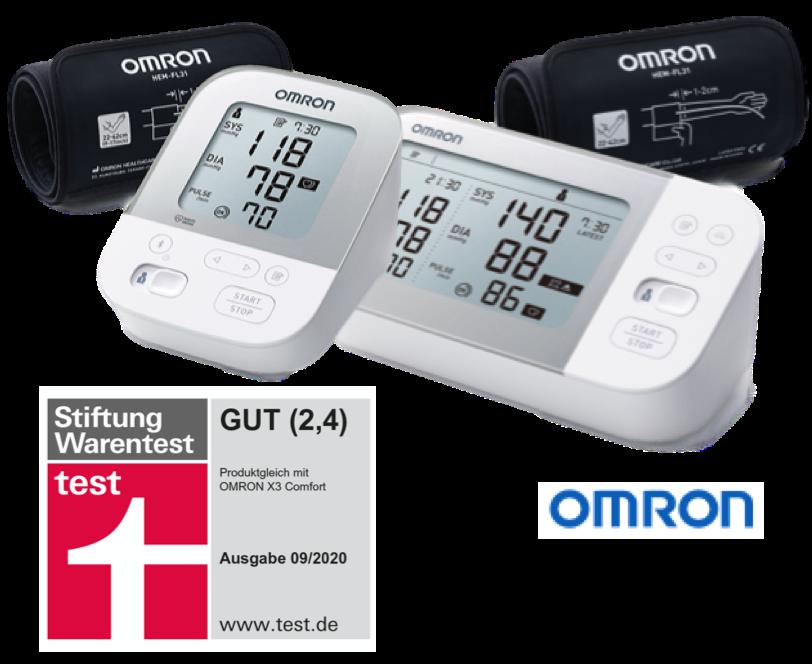 Omron X4 X7 Smart an Vidagesund-App